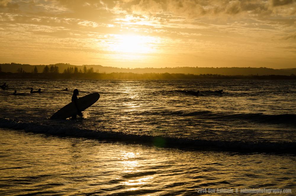 Sunset Surfer, Byron Bay, Australia
