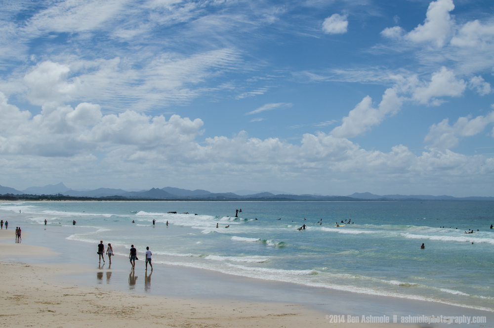 Main Beach Under A Cloudy Sky, Byron Bay, Australia