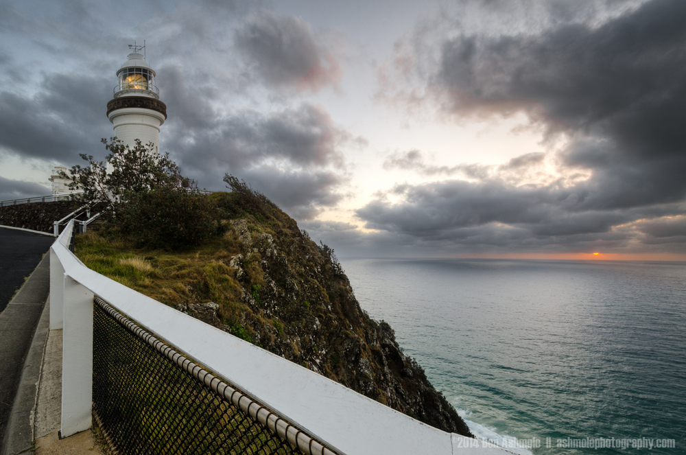 Moody Sunrise, Cape Byron Lighthouse, Byron Bay, Australia