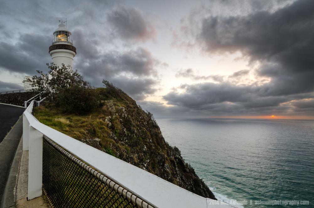 Moody Sunrise, Cape Byron Lighthouse, Byron Bay, Australia