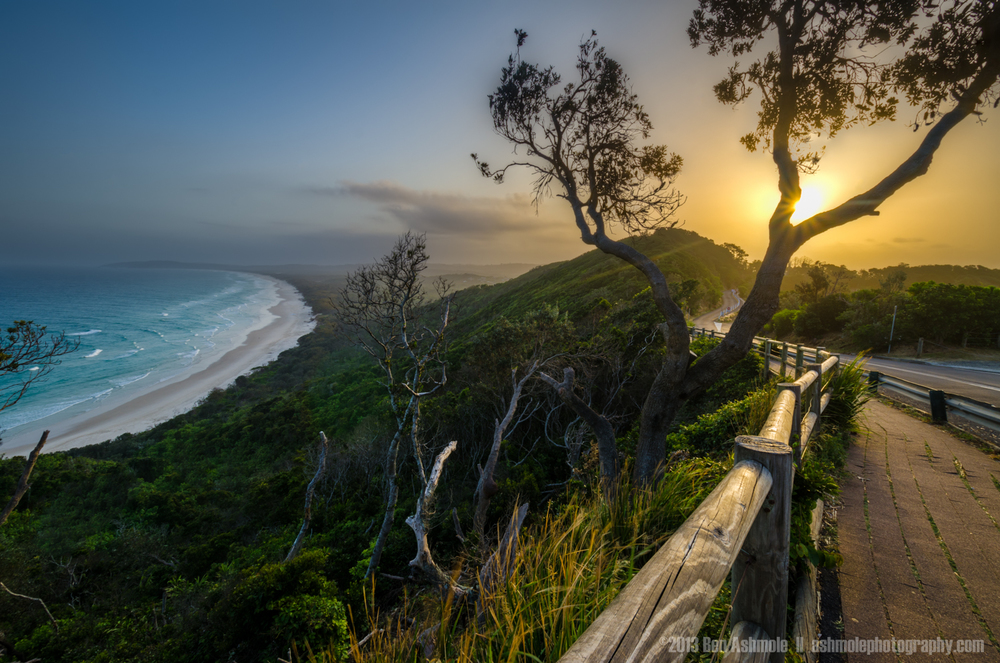 Coastal Road By Tallow Beach, Byron Bay, Australia