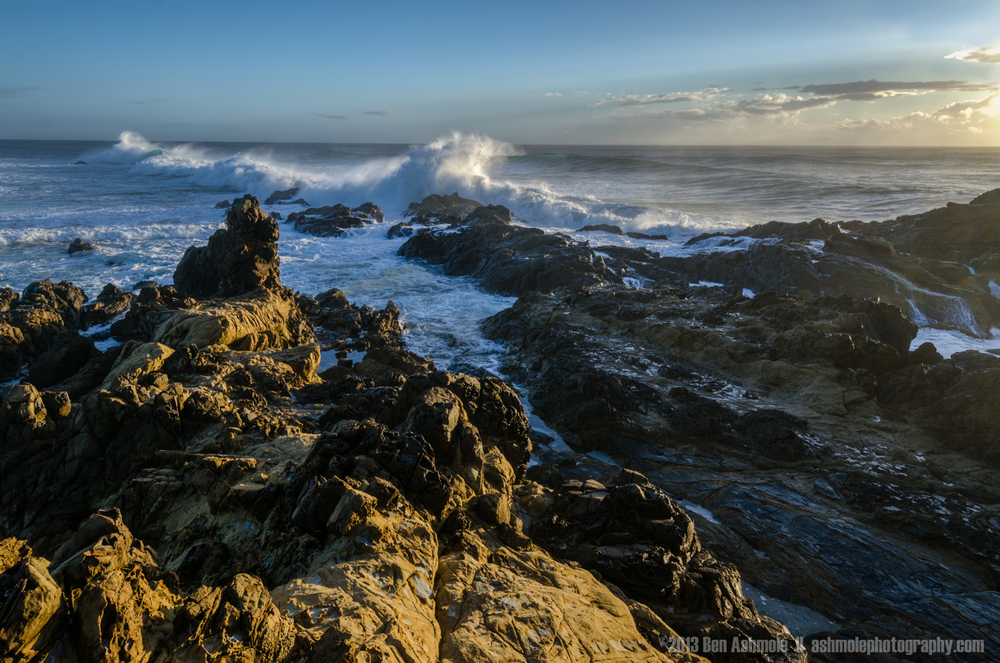 Early Morning Waves on the Rocks, Byron Bay, New South Wales, Au