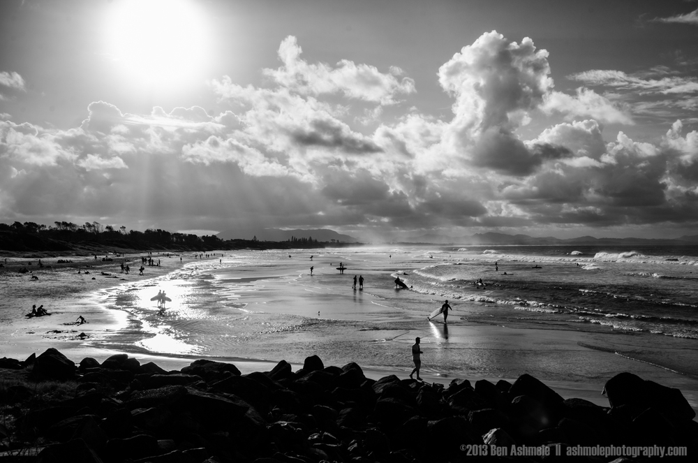 Byron Bay In B&W, Australia