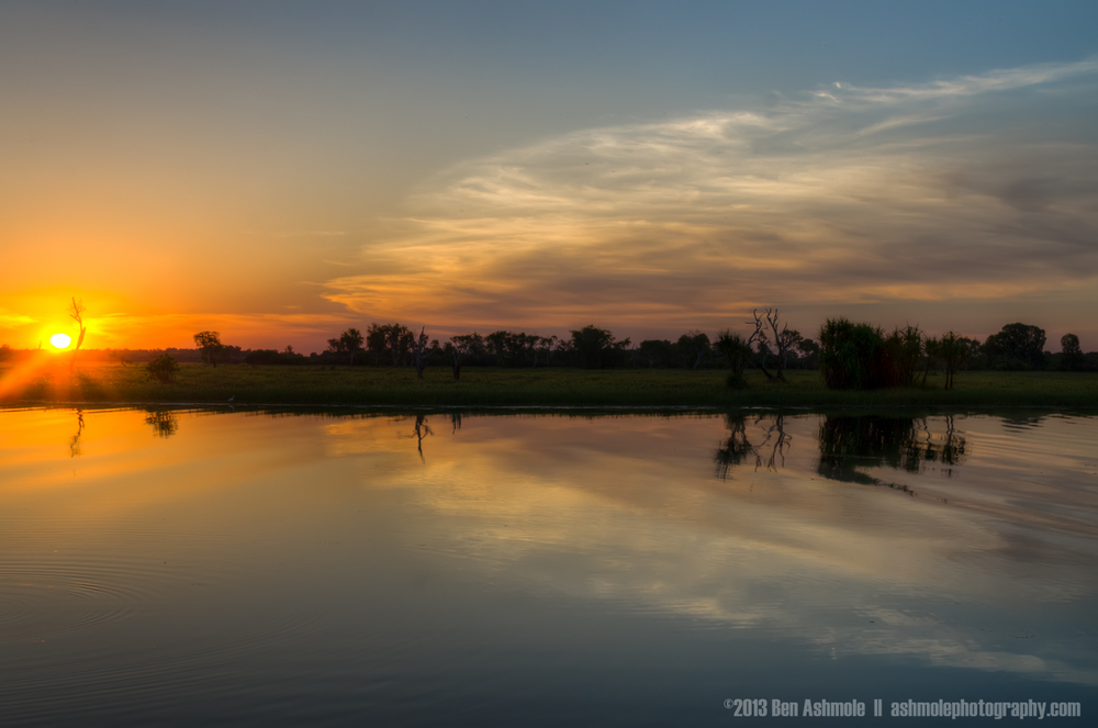 Reflected Sunset, Yellow Water Billabong, Kakadu National Park,