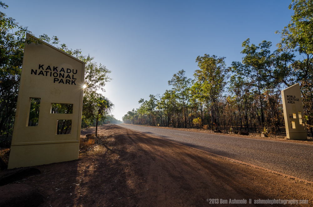 Entering Kakadu National Park, NT, Australia