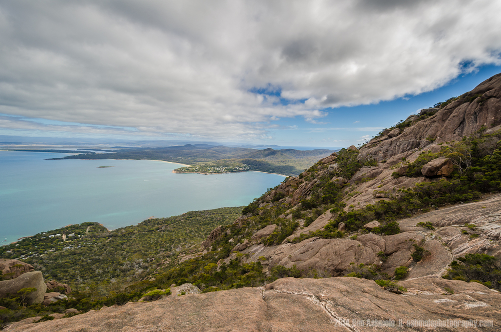 Coles Bay From Mt Amos, Freycinet National Park, Tasmania, Austr