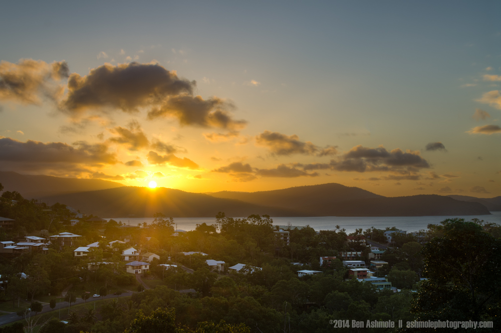 Sunset Over Airlie Beach, Whitsundays, Australia