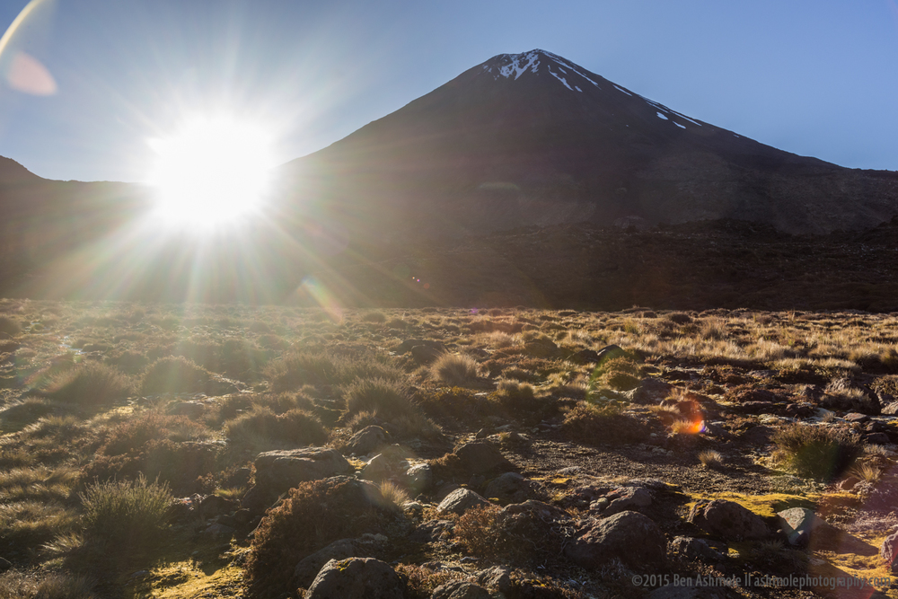 Mt Doom & The Morning Sun, Tongariro, New Zealand