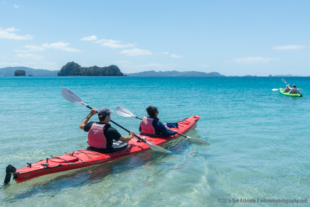 Ocean Kayaking, Cathedral Cove, New Zealand