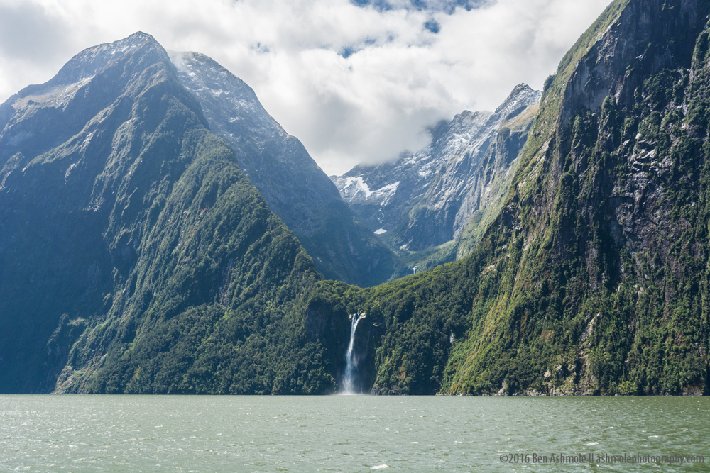 Ocean Waterfall, Milford Sound, New Zealand