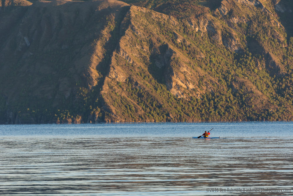 Lone Morning Kayaker, Lake Wanaka, New Zealand