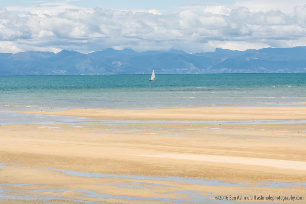 Lonely Yacht 2, Abel Tasman National Park, New Zealand
