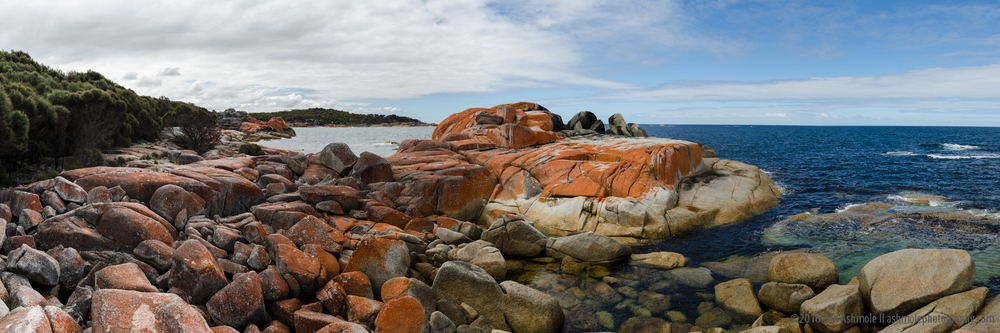 Bay Of Fires Panorama, Tasmania, Australia