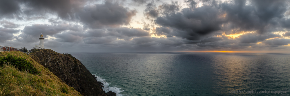 Lighthouse Sunrise Panorama, Byron Bay, Australia