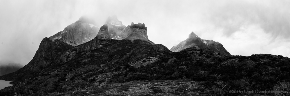 Misty Mountain Panorama, Torres Del Paine, Patagonia, Chile