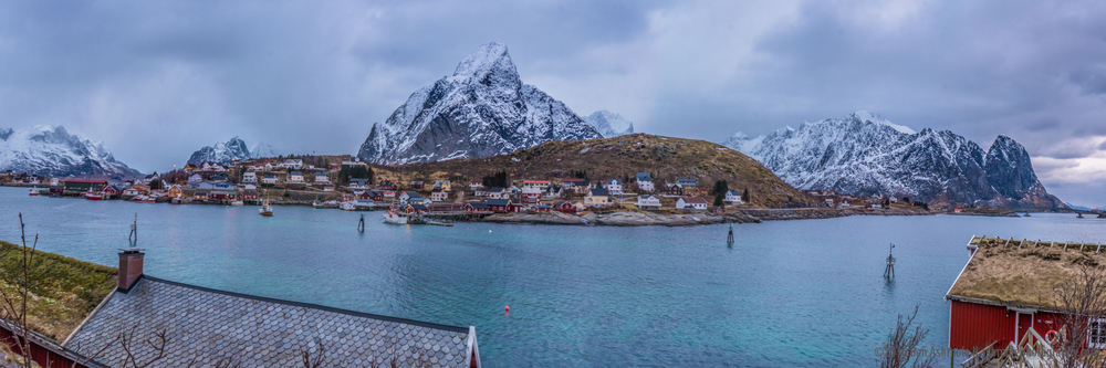 Reine Fjord Panorama, Lofoten Islands, Norway
