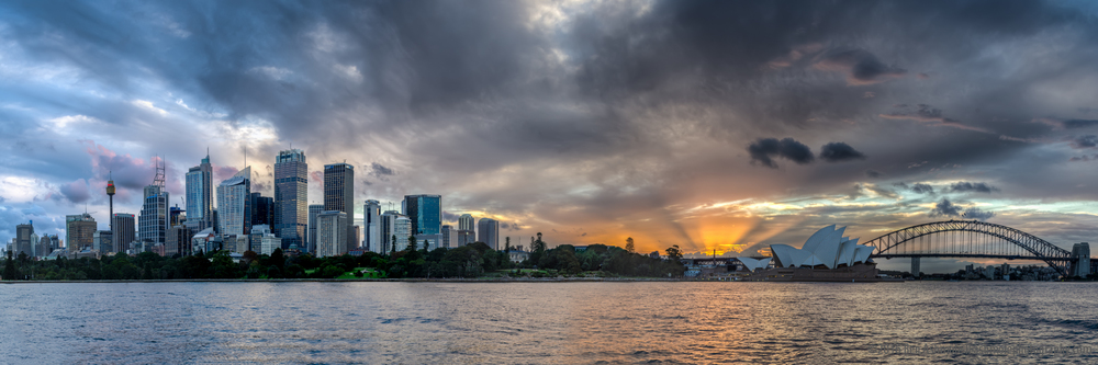 Sydney Sunset Panorama, New South Wales, Australia