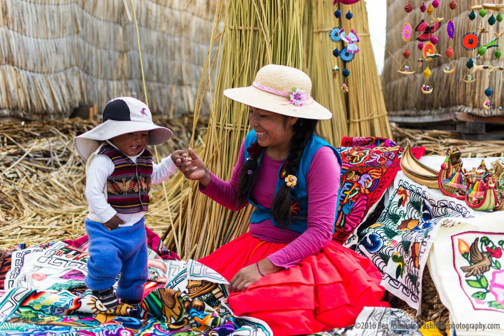 Mother and Child, Uros Islands, Lake Titicaca, Peru