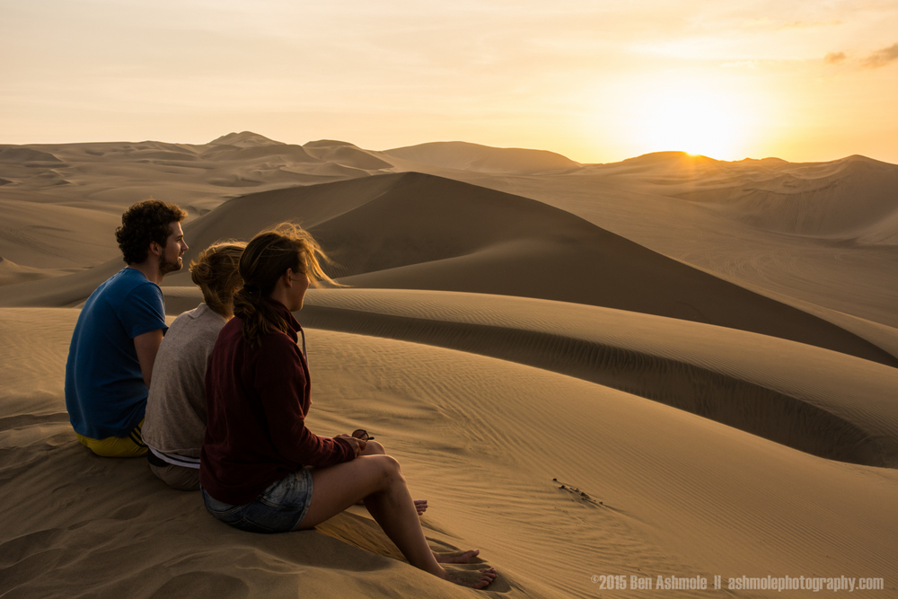 Watching The Sunset, Huacachina, Peru