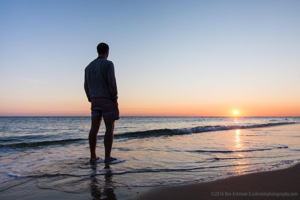 Sunrise Selfie, Rainbow Beach, Queensland, Australia