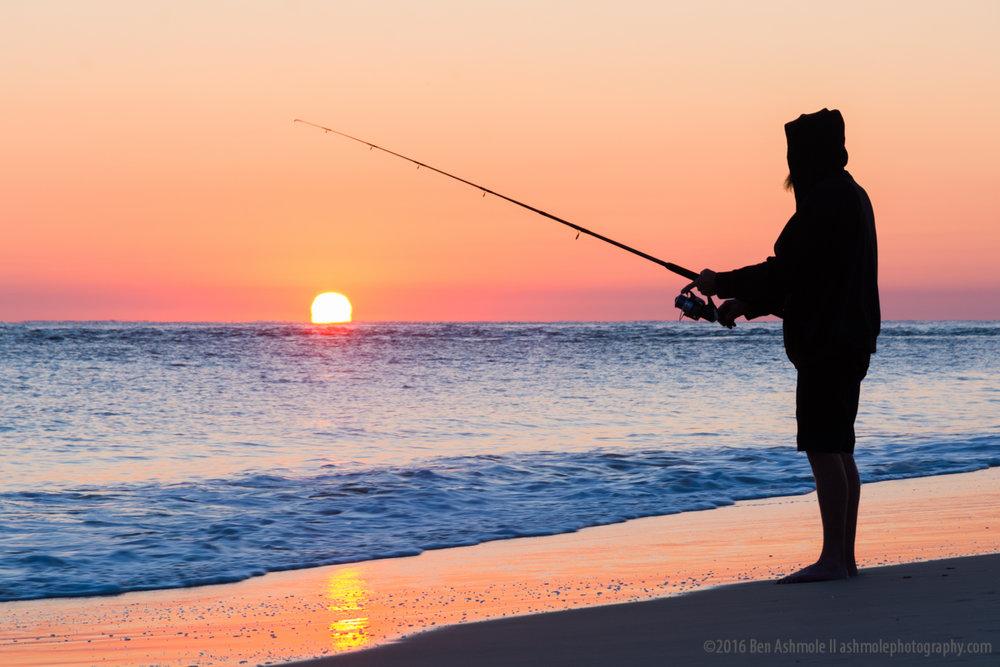 Sunrise Fisherman, Rainbow Beach, Queensland, Australia