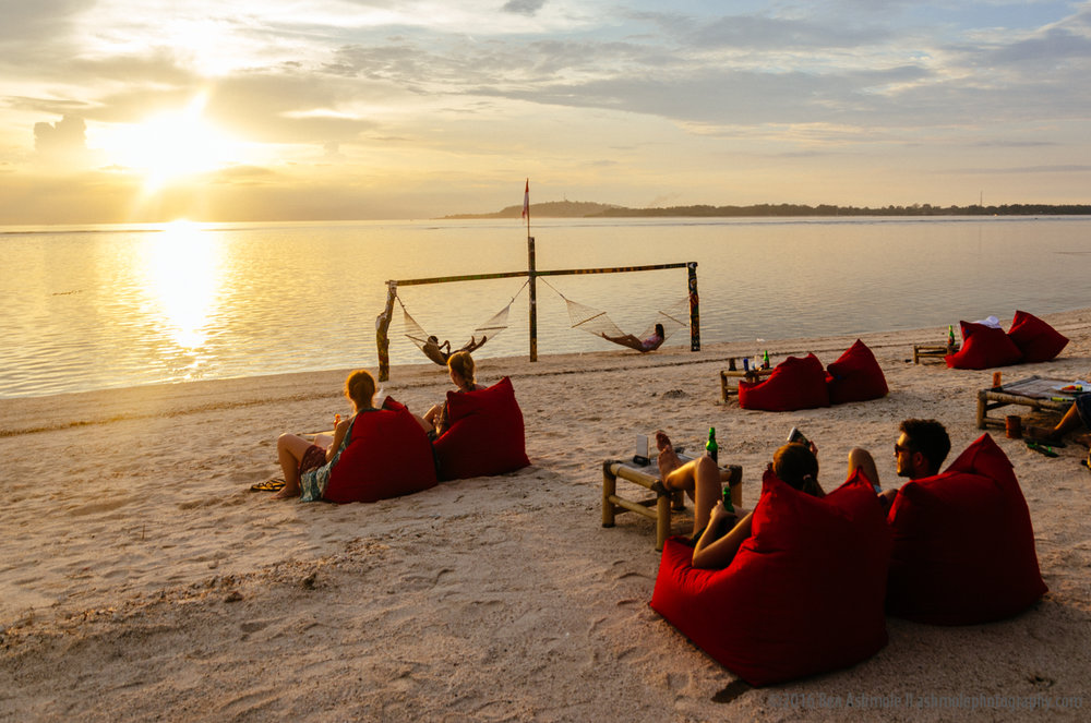 Sunset Bean Bags, Gili Air, Indonesia