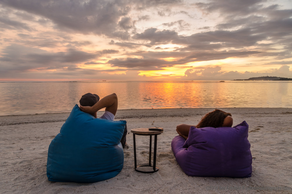 Watching Sunset 2, Gili Air, Indonesia