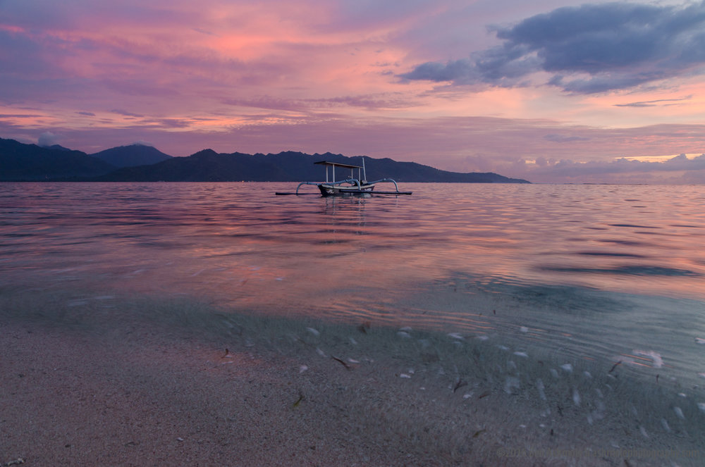 Gili Sunset, Gili Air, Indonesia