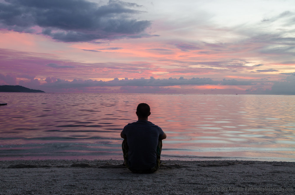 Watching Sunset, Gili Air, Indonesia