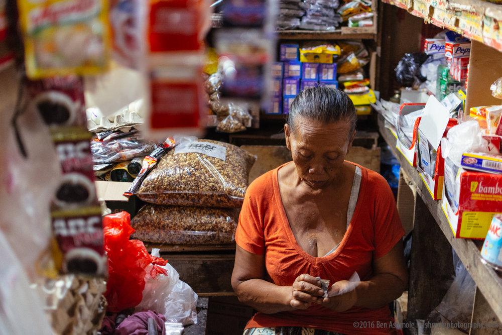 Market Seller, Ubud, Bali, Indonesia,