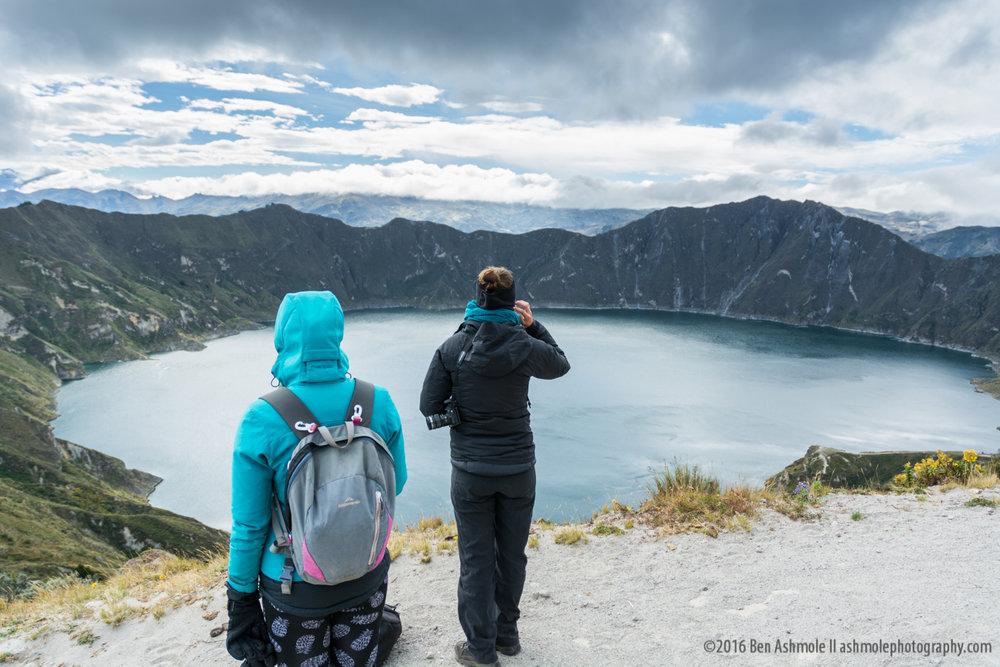 Surveying The Lake, Lake Quilotoa, Ecuador