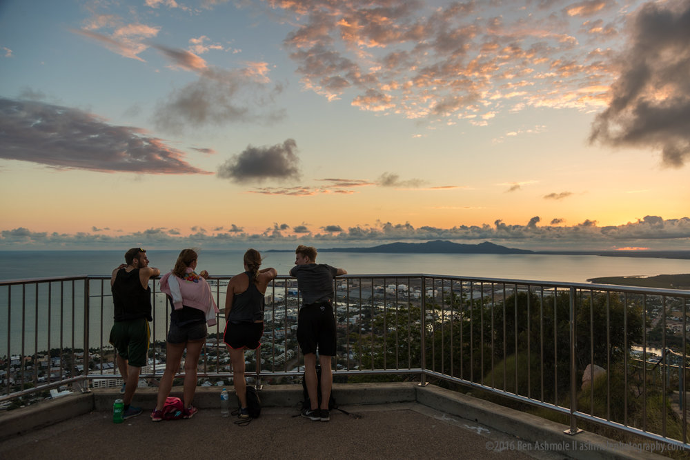 Watching Sunrise From Castle Hill, Townsville, Australia, Ben As