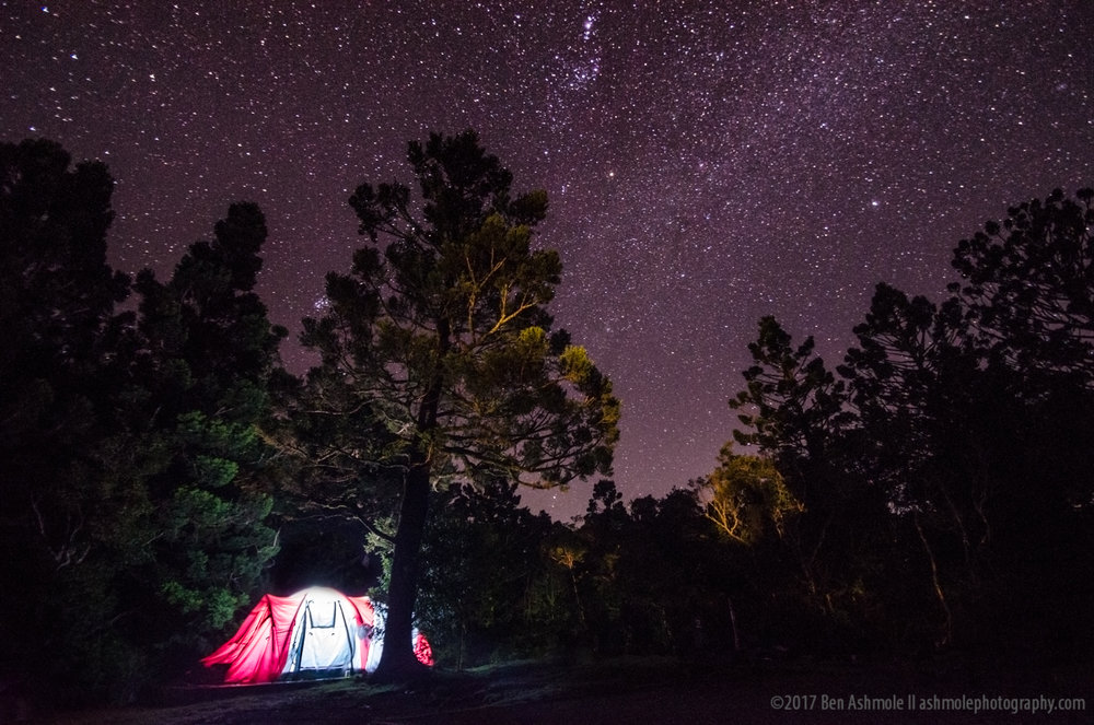 Camping  Under Stars, Lamingotn National Park, Queensland, Austr