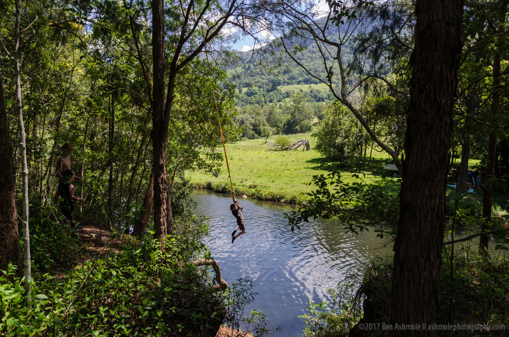 Rope Swing, Nerang River, Springbrook National Park, Australia