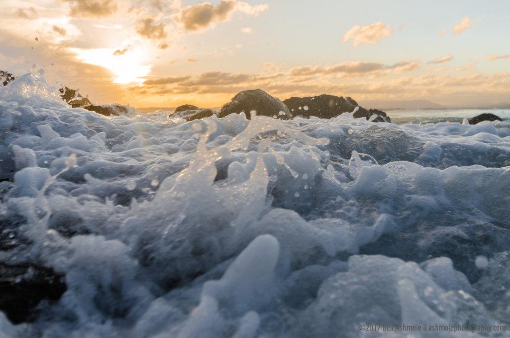 Sea Foam, Wategos Beach, Byron Bay, Australia