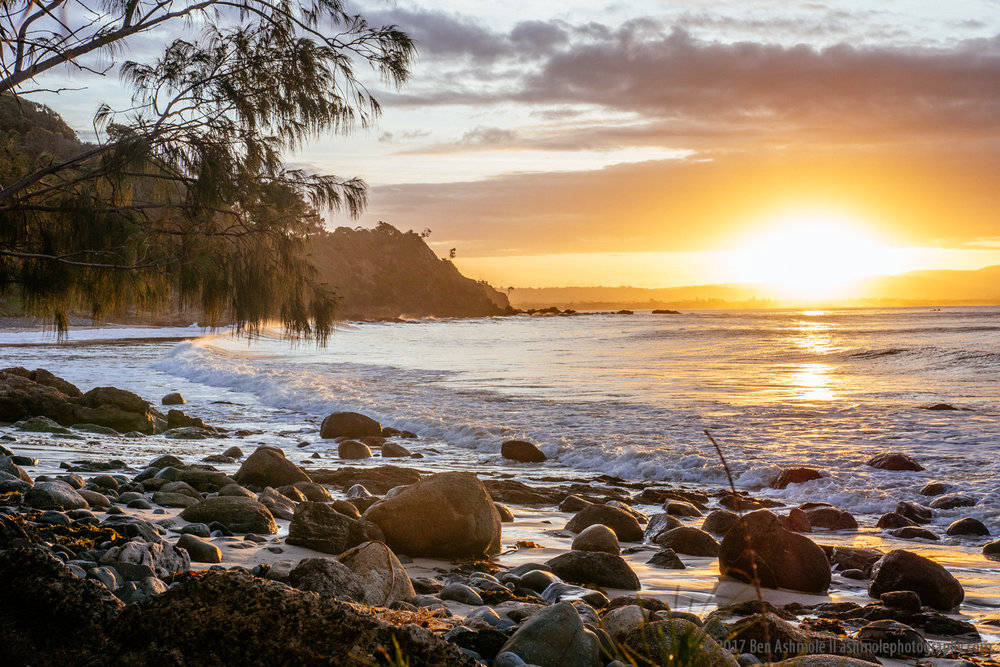 Wategos Beach Sunset, Byron Bay, Australia