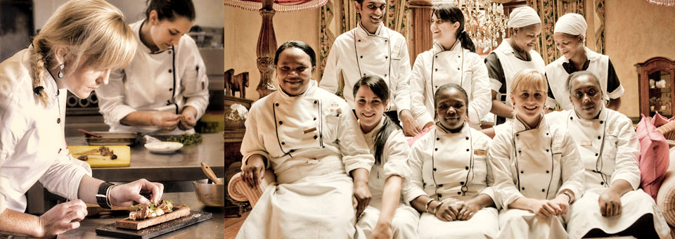 Chef Jackie Cameron and the Hartford House Kitchen Team