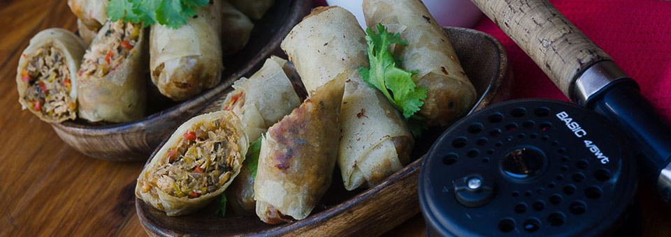 Trout Spring Rolls