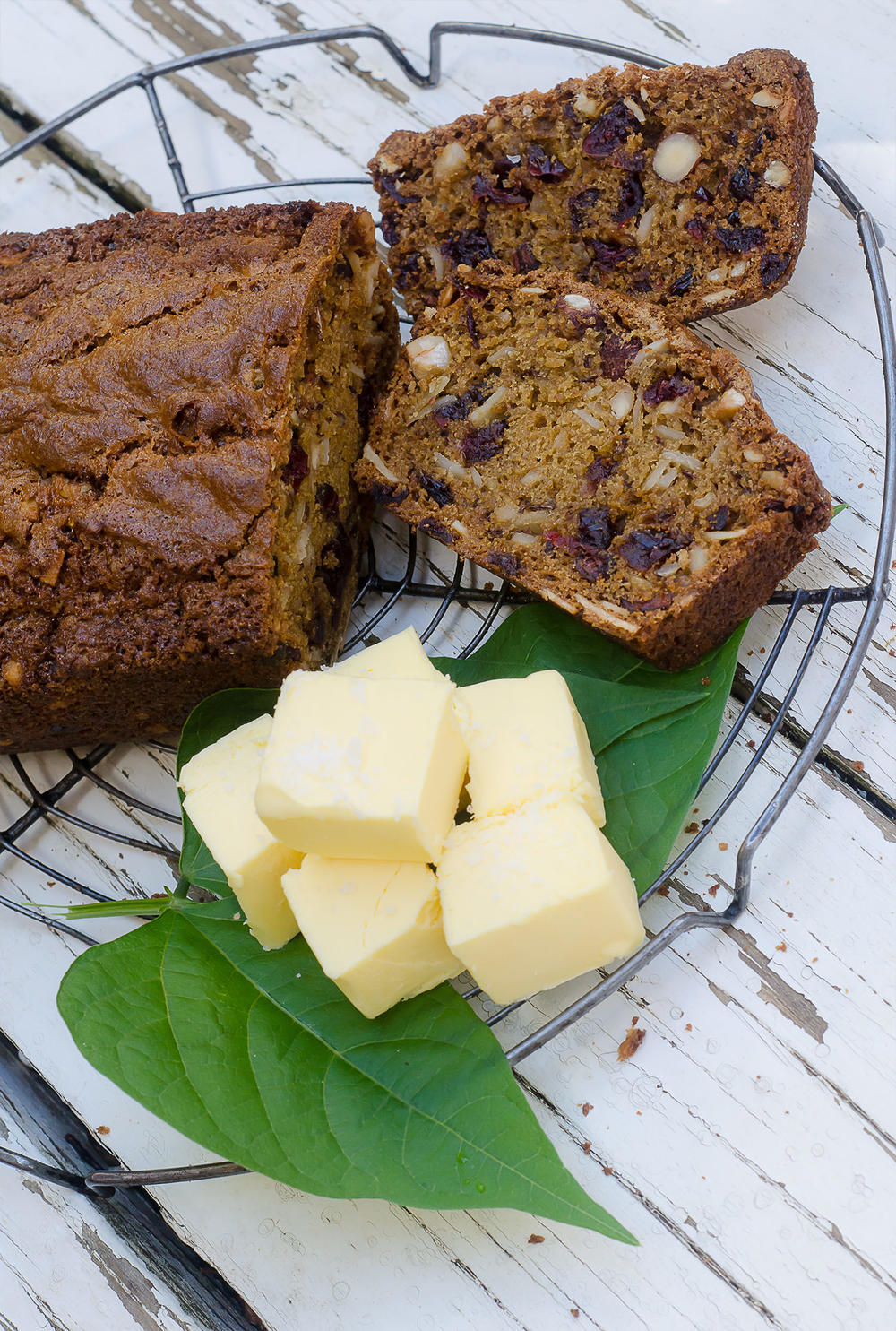 Coffee, Cranberry and Nut Bread