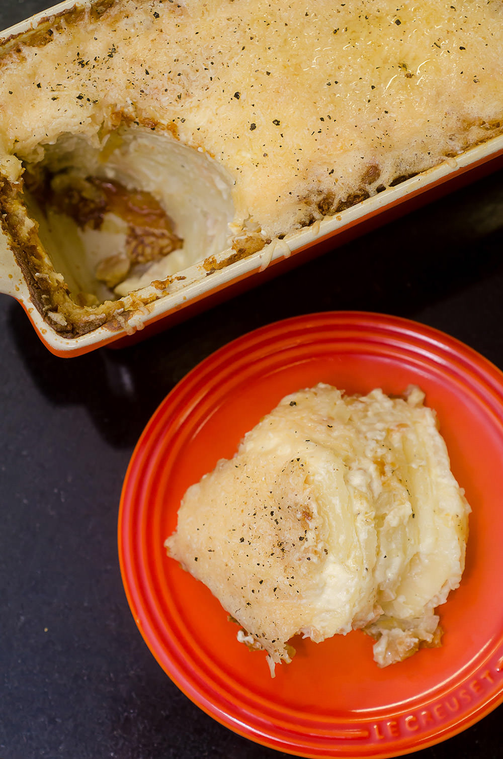 Potato and Almond Bake / Karen E Photography