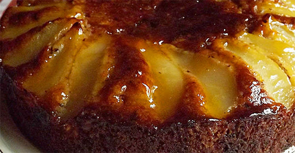 La Popote's Pear, Hazelnut and Chocolate Cake