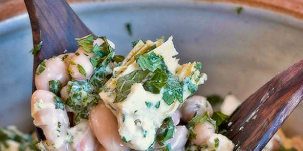 Cleopatra's Artichoke and Cannellini Bean Salad
