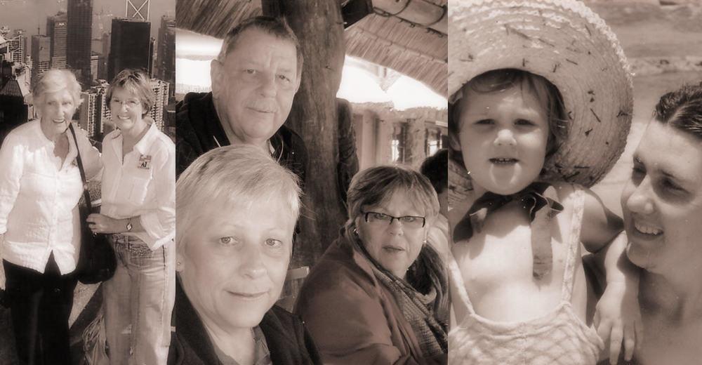 Aunty Bee & her mom,John, Valerie & Noel Steelite, Baby Aunty Bee & her mom.