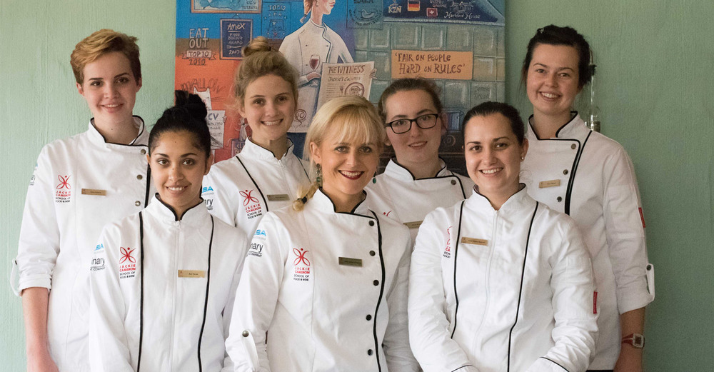 Jackie Cameron, Elaine Boshoff and the Jackie Cameron School of Food & Wine Class of 2015