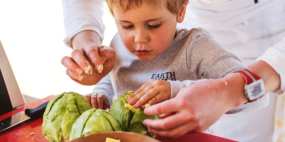 Baby Cabbage Grilled Parmesan infused Polenta - Kate Martens