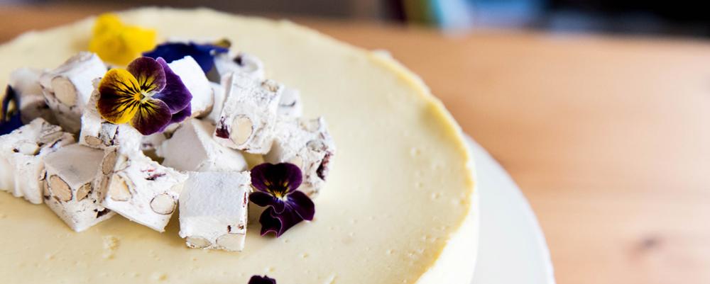 Baked Nougat Cheesecake