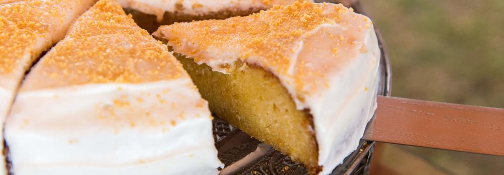 Naartjie citrus cake with Vanilla Icing