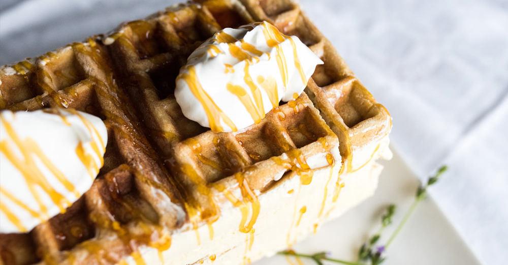 Frozen Waffle Ice Cream Cake /Kate Martens (p)