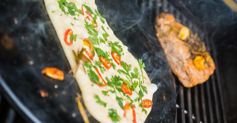 Steak and Chili Cilantro Naan