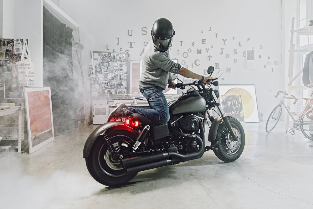Tadao Cern and his Fat Bob